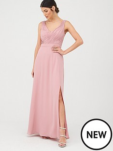 v-by-very-bridesmaid-pleated-bust-maxi-dress