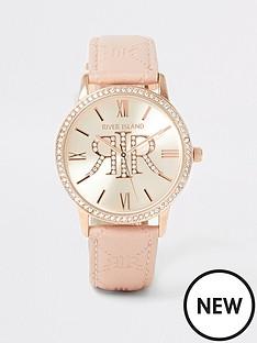 river-island-river-island-diamante-embossed-pu-strap-watch-light-pink