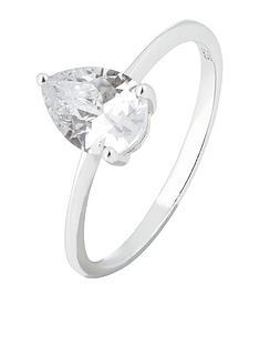 accessorize-pear-cut-cz-solitaire-ring