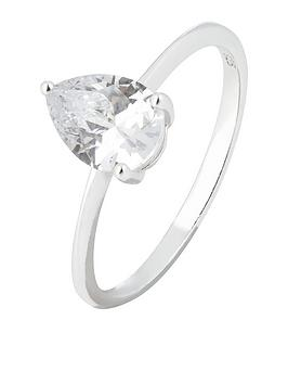 accessorize-pear-cut-cz-solitaire-ring