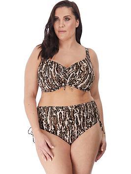 elomi-fierce-animal-print-adjustable-bikini-brief-black