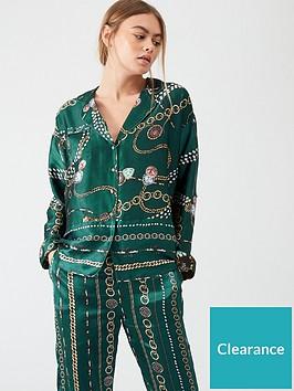 river-island-river-island-printed-satin-pyjama-shirt-green