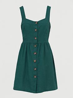 v-by-very-button-through-mini-pinny-dress-greennbsp