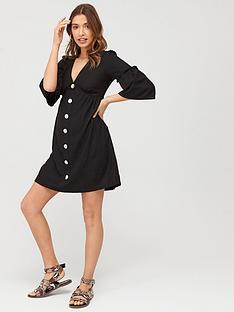 v-by-very-linen-button-through-tunic-black