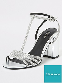 river-island-river-island-wide-fit-heatseal-t-bar-sandal-silver