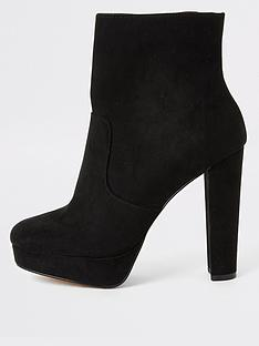 river-island-river-island-wide-fit-faux-suede-platform-boot-black