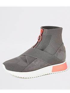 river-island-river-island-high-top-knitted-runner-sock-trainers-grey