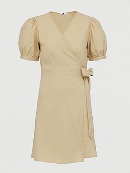 v-by-very-linen-wrap-dress