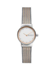 skagen-skagen-silver-and-rose-gold-dial-two-tone-stainless-steel-mesh-strap-ladies-watch