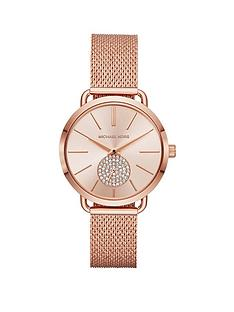 michael-kors-michael-kors-blush-sunray-dial-rose-gold-stainless-steel-mesh-strap-ladies-watch