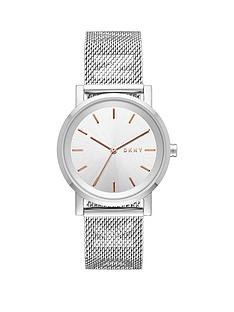 dkny-silver-dial-stainless-steel-logo-mesh-strap-watch