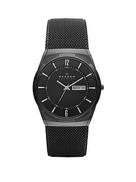 skagen-skagen-black-daydate-dial-black-leather-strap-mens-watch