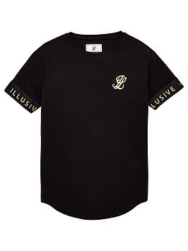 illusive-london-boys-tech-short-sleeve-t-shirt-black