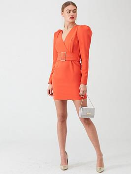 river-island-river-island-long-sleeve-belted-mini-dress--red
