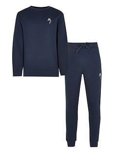 river-island-boys-rvr-sweat-and-jog-pant-set-navy