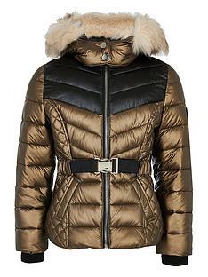 river-island-girls-faux-fur-hooded-padded-coat-bronze
