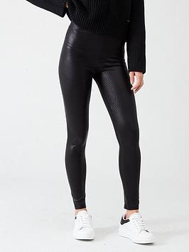 river-island-river-island-snake-printed-coated-leggings--black