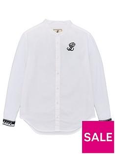 illusive-london-boys-grandad-collar-long-sleeve-shirt-white