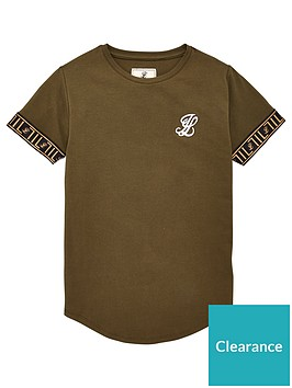 illusive-london-boys-tech-short-sleeve-t-shirt-khaki