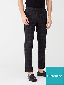 river-island-navy-check-skinny-fit-suit-trousers
