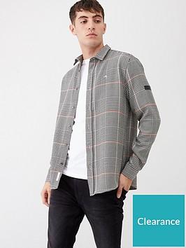 river-island-grey-prince-of-wales-check-slim-fit-shirt