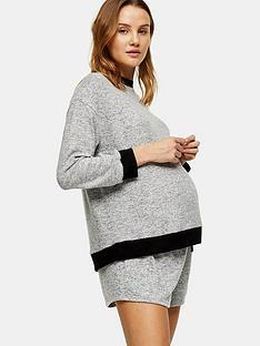 topshop-maternity-supersoft-sweat-pajama-shorts-grey