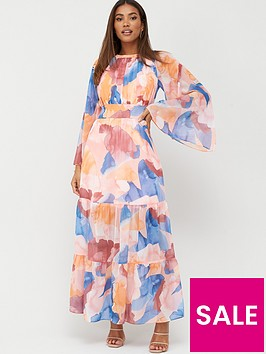 v-by-very-shirred-waist-tiered-maxi-print