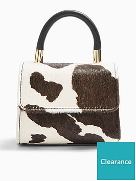 topshop-cindy-mini-cross-body-cow-print-bag-multi