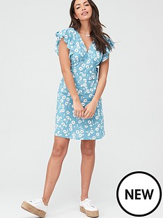 v-by-very-cotton-frill-sleeve-mini-dress-blue-floral