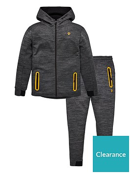 v-by-very-boys-2-piece-space-dye-neon-trims-tech-hoodie-and-jogger-set-grey