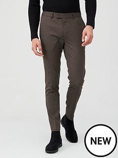river-island-micro-check-skinny-trouser