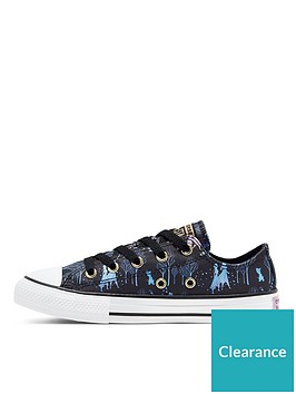 converse-frozen-2-sister-journey-ox-childrens-trainers-black