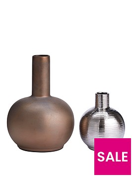 set-of-2-embossed-vases