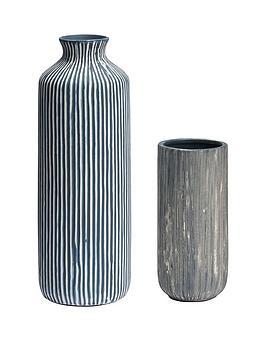 set-of-2-striped-vases