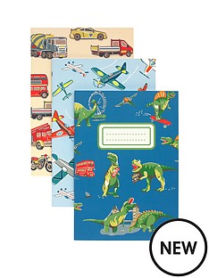 cath-kidston-cath-kidston-dino-in-london-3-pack-notebooks-and-pencils-set