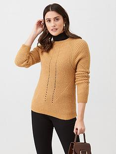 v-by-very-stitch-detail-knitted-jumper-camel