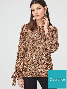 v-by-very-essentialnbsptie-sleeve-long-sleeve-shell-top-animal