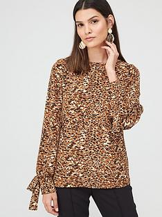 v-by-very-tie-sleeve-long-sleeve-shell-top-animal