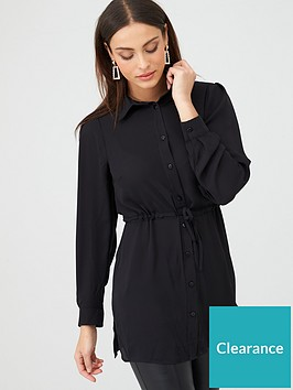 v-by-very-essential-longlinenbsptie-waist-shirt-black