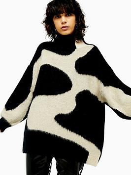 topshop-swirl-pattern-jumper-monochrome