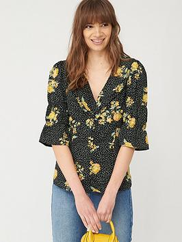 v-by-very-button-through-woven-blouse-black-floral