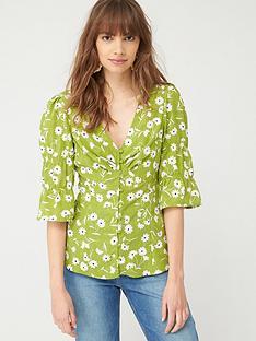 v-by-very-button-through-woven-blousenbsp--green-floral