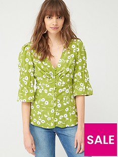 v-by-very-button-through-woven-blousenbsp--green-floral
