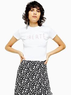 topshop-liberte-stitch-t-shirt-white