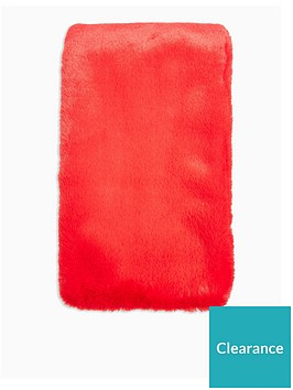 topshop-faux-fur-scarf-red