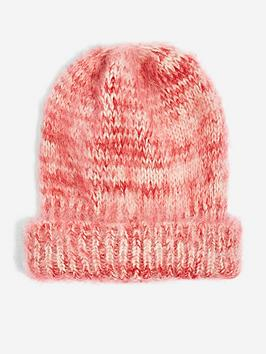 topshop-space-dye-beanie-hat-red