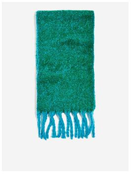 topshop-two-tone-heavy-scarf-green