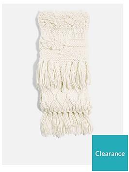 topshop-topshop-knitted-tassel-scarf-cream