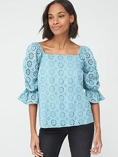 v-by-very-square-neck-broderie-top-bluenbsp