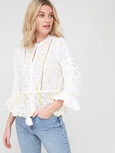v-by-very-tie-waist-ladder-trim-broderie-blouse-whitenbsp